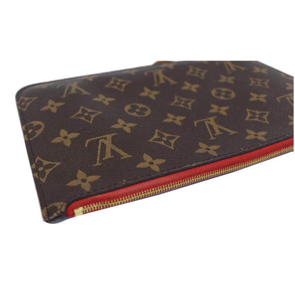 Louis Vuitton Neverfull MM Pouch Wristlet Pochette - lv zip