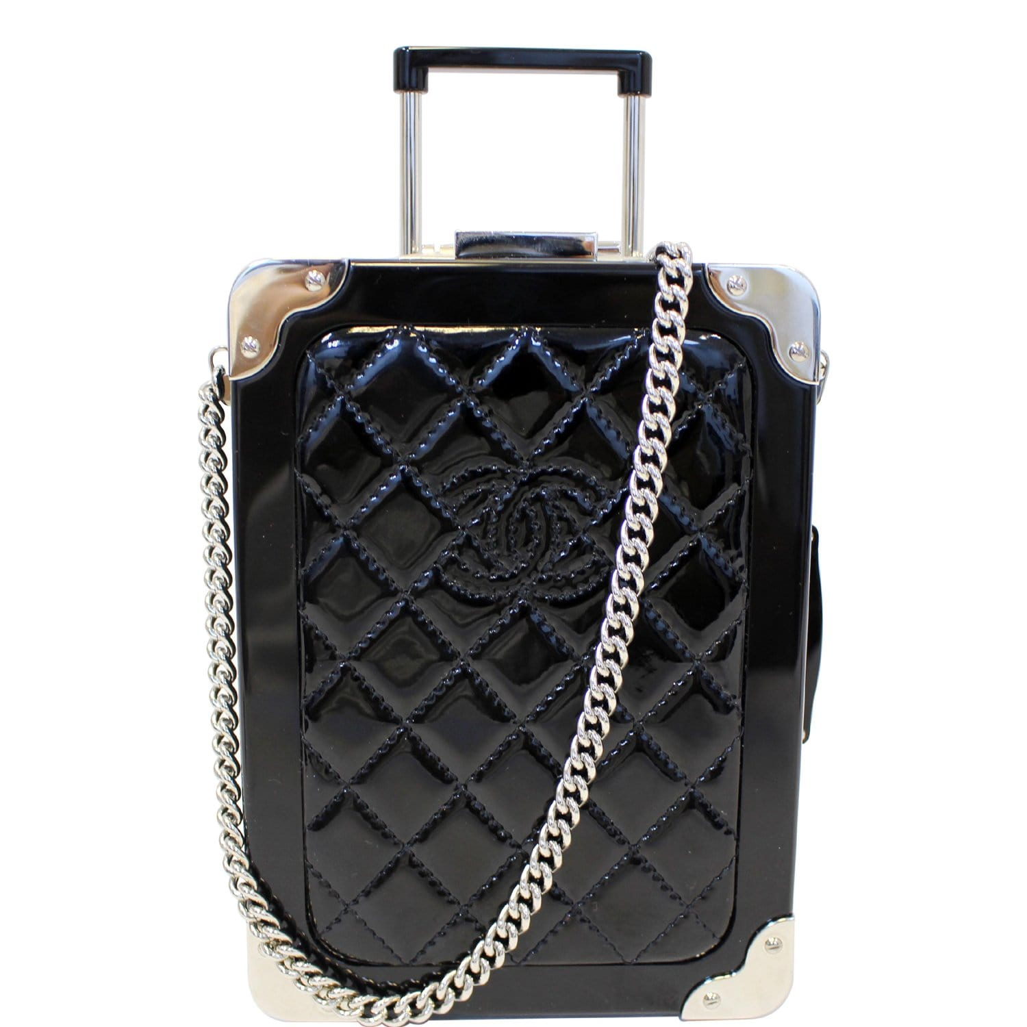 5c9dd8a65 CHANEL Evening In The Air Mini Trolley Minaudiere Crossbody Bag Black