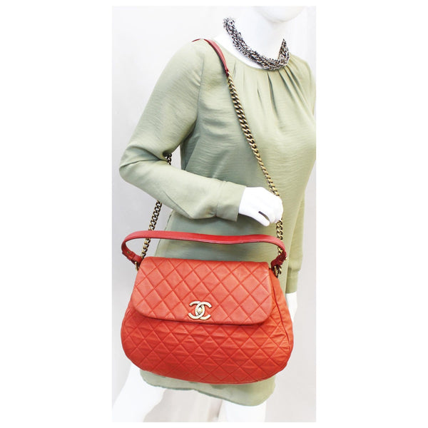 Chanel Flap Red Soft Caviar Shoulder Crossbody Bag