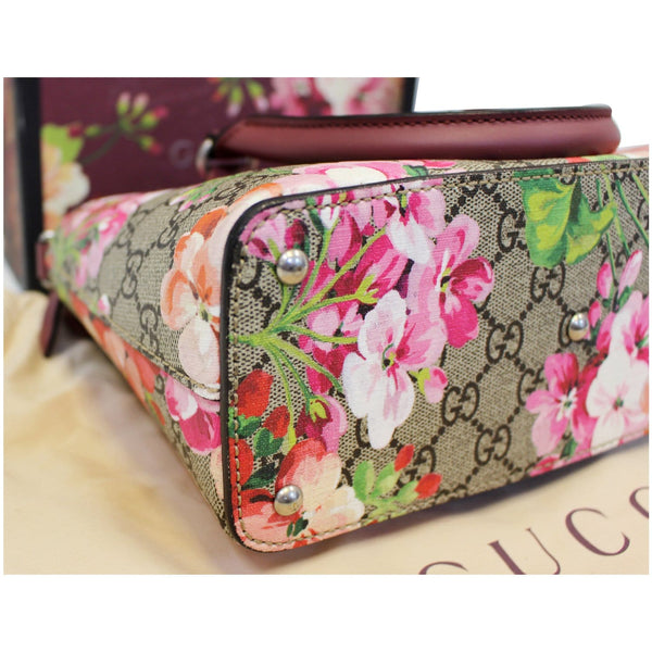 Gucci Satchel Bag GG Supreme Blooms Small - corner