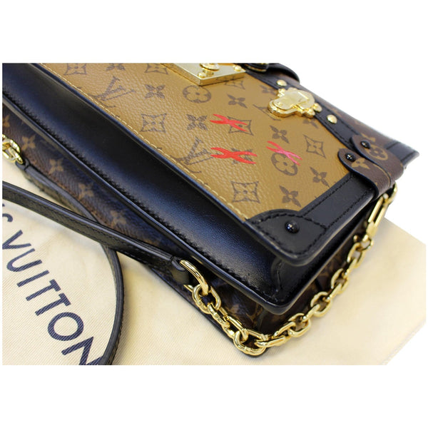 LOUIS VUITTON Trunk Clutch Reverse Monogram Crossbody Bag Brown