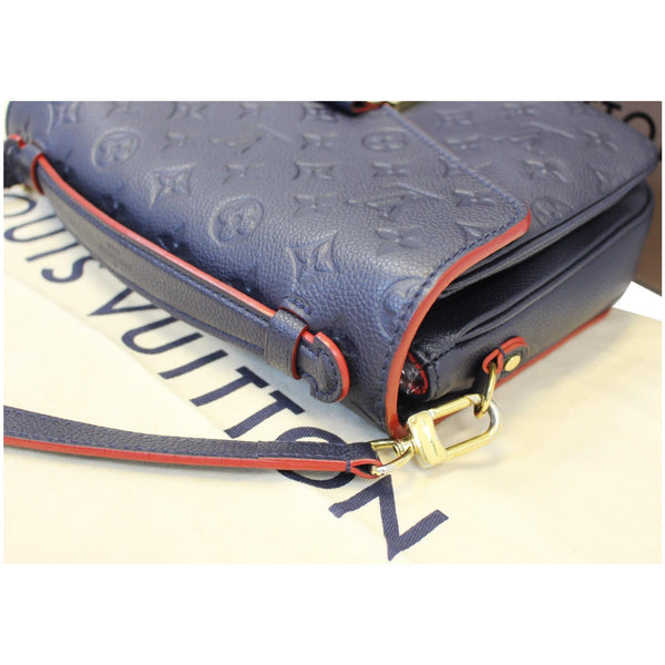 LOUIS VUITTON Metis Pochette Empreinte Leather Crossbody Bag Blue-US