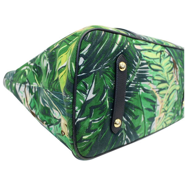 Louis Vuitton Ailleurs Cabas GM Printed Shoulder Bag green