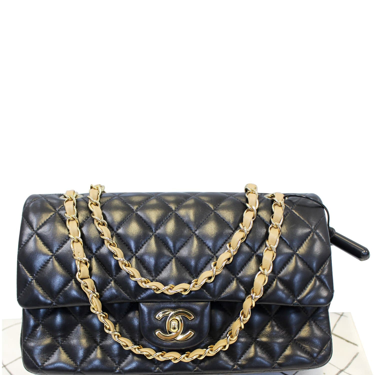 28a02afe7998 CHANEL Classic Jumbo Quilted Lambskin Leather Double Flap Shoulder Bag-US
