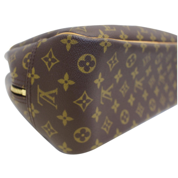 LOUIS VUITTON Deauville Monogram Canvas Boston Satchel Bag Brown-US
