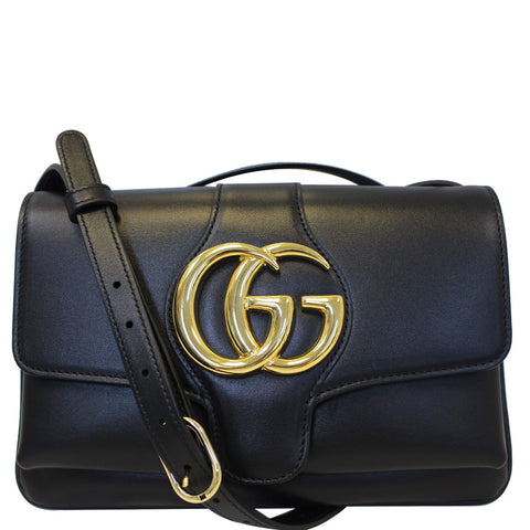 GUCCI Arli Small Leather Shoulder Bag Black 550129