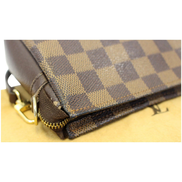 Lv Damier Ebene Truth Makeup Pouch Bag Brown - side view