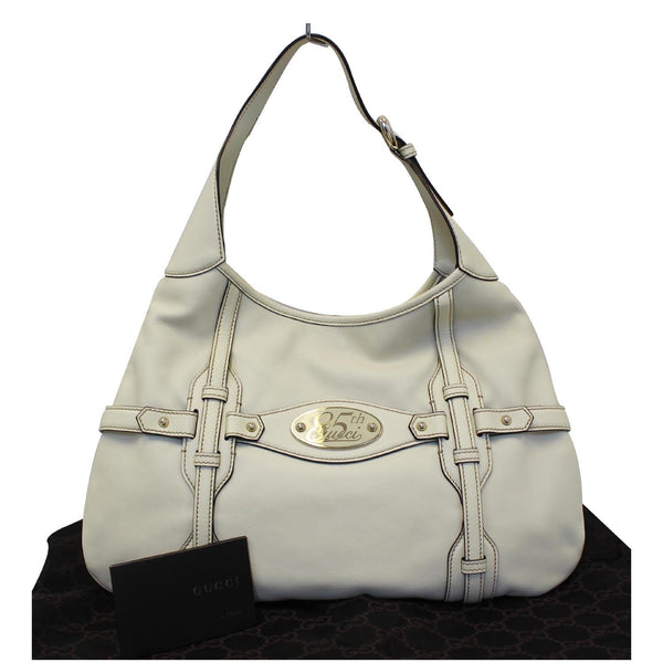 Gucci 85th Anniversary Horsebit Leather Hobo Bag - front view