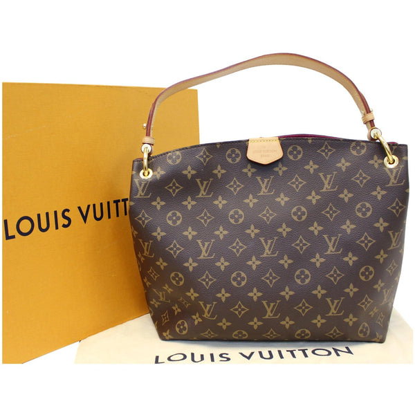 LOUIS VUITTON Graceful PM Monogram Canvas Shoulder Bag Brown