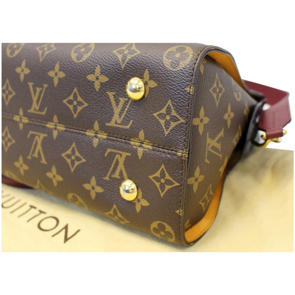LOUIS VUITTON Tuileries Monogram Canvas Tote Shoulder Bag Brown