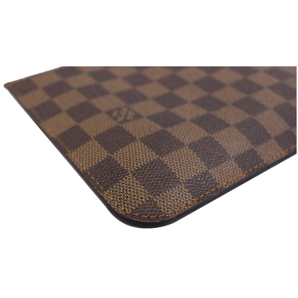 LOUIS VUITTON Pochette Wristlet Pouch Damier Ebene Neverfull MM/GM Brown