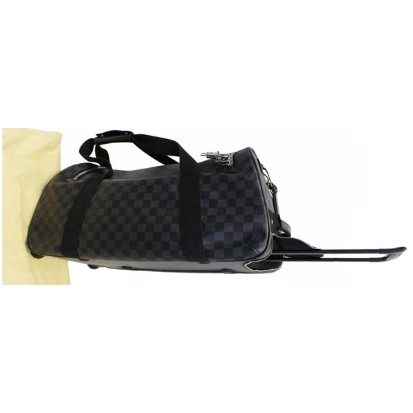 LOUIS VUITTON Neo Eole 55 Damier Graphite Rolling Duffle Bag Black