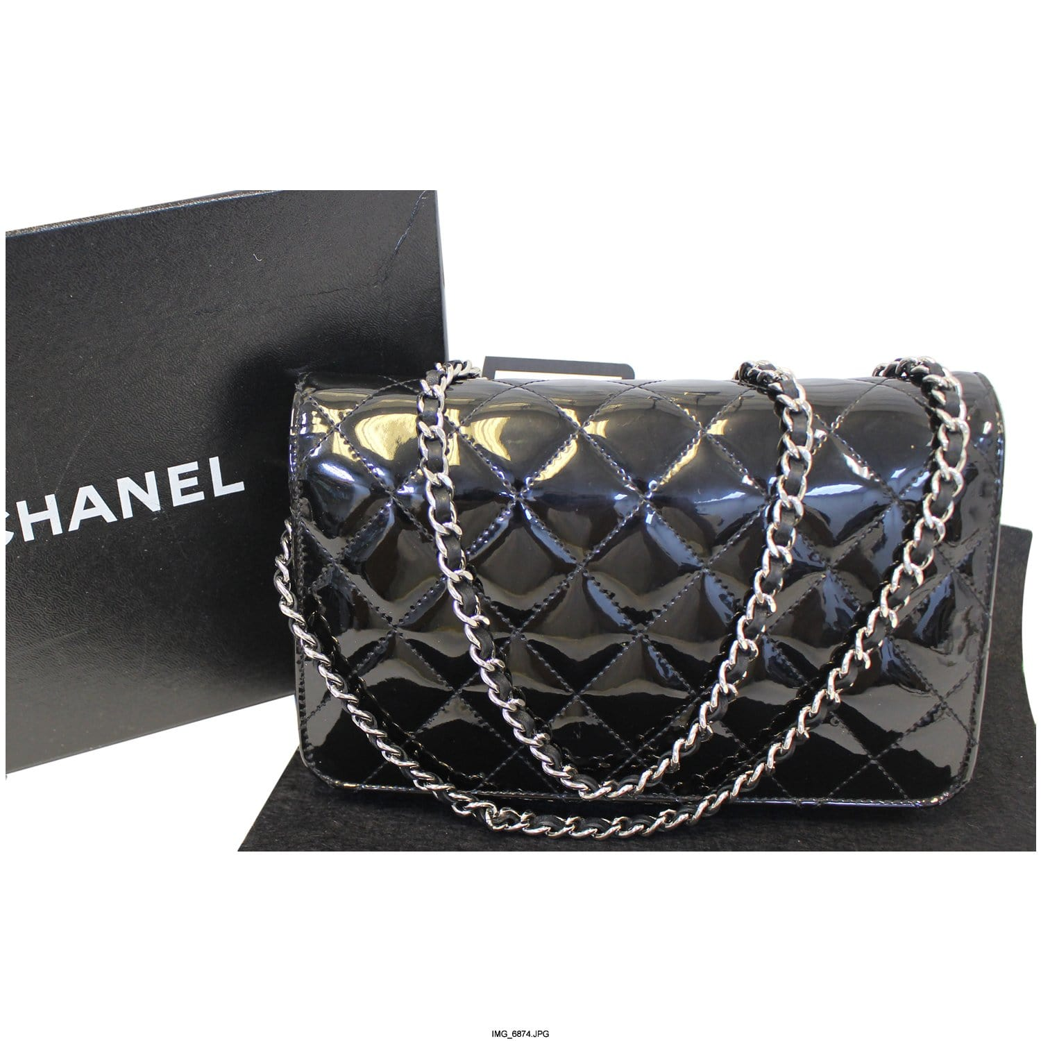 3c7681f7eb9170 CHANEL Wallet On Chain Patent Leather Shoulder Crossbody Bag-US