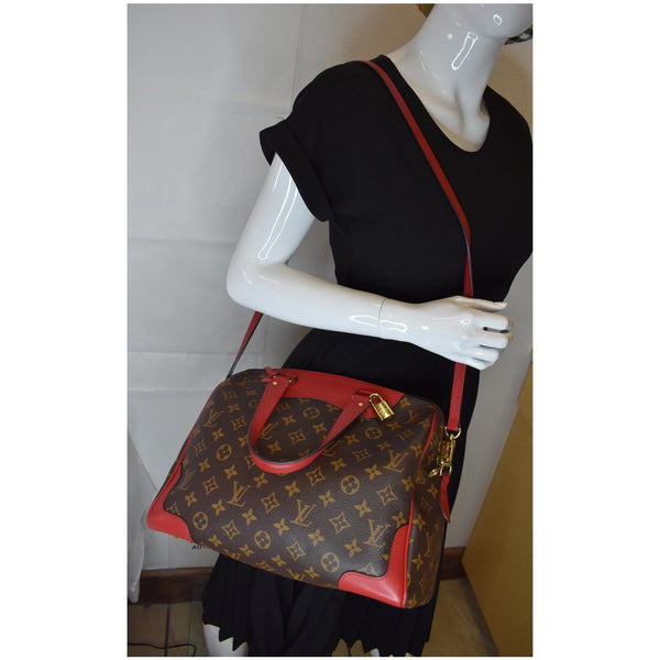 LOUIS VUITTON Retiro NM Monogram Canvas 2Way Shoulder Bag Red