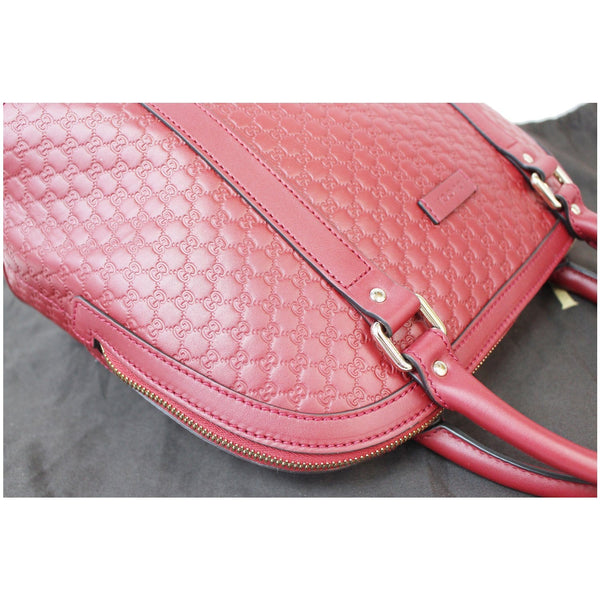 GUCCI Dome Medium Microguccissima Leather Shoulder Bag Red 449663