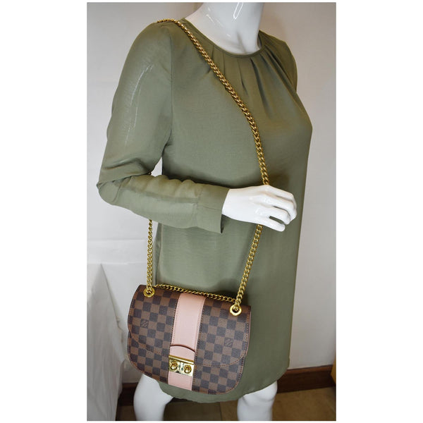 Louis Vuitton Wight Damier Ebene Crossbody Bag Magnolia - shoulder bag