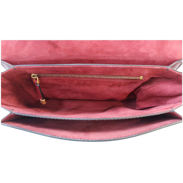 CHRISTIAN DIOR Dio(r)evolution Flap Calfskin Shoulder Bag Dark Red