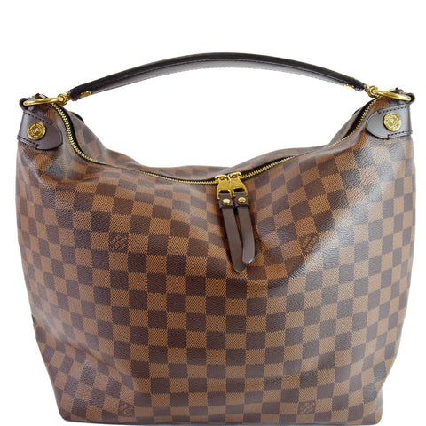 LOUIS VUITTON Duomo Hobo Damier Ebene Hobo Bag Brown