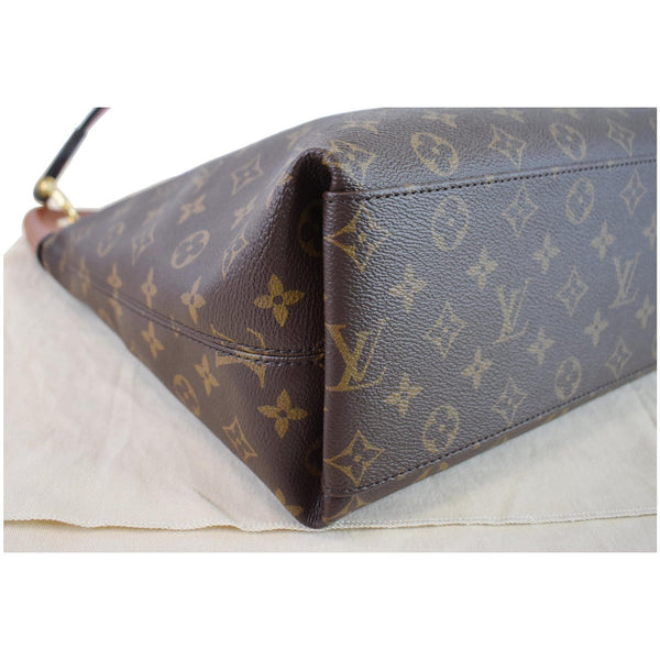 Louis Vuitton Tuileries Monogram Canvas Hobo Bag brown