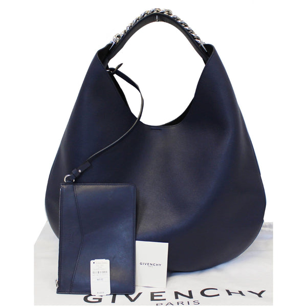 Givenchy Hobo Bag Infinity Medium Leather Blue - discounted