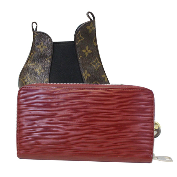 Louis Vuitton Zippy Wallet Organizer Epi Leather Red - online