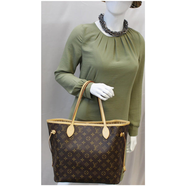 LOUIS VUITTON Neverfull MM Monogram Canvas Tote Shoulder Bag Brown-US