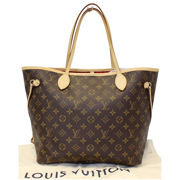 Louis Vuitton Neverfull MM Monogram Canvas Tote Bag - lv strap