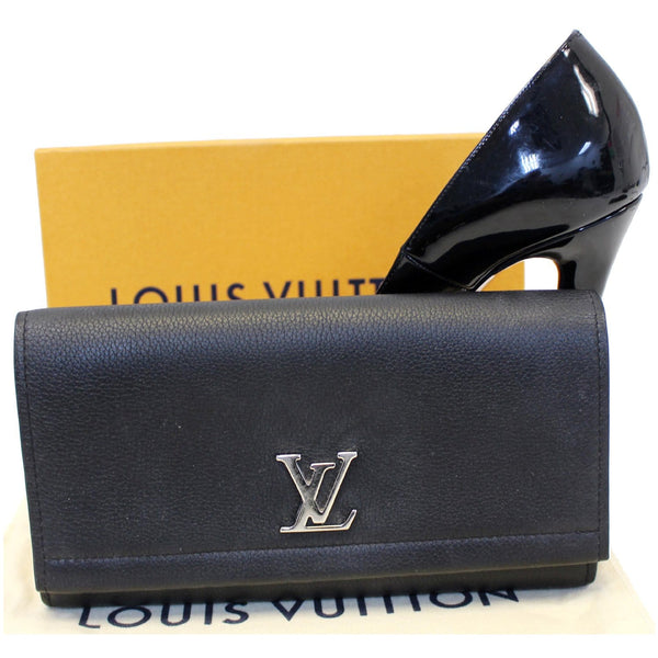 Louis Vuitton Lockme II Calfskin Leather Pouch front