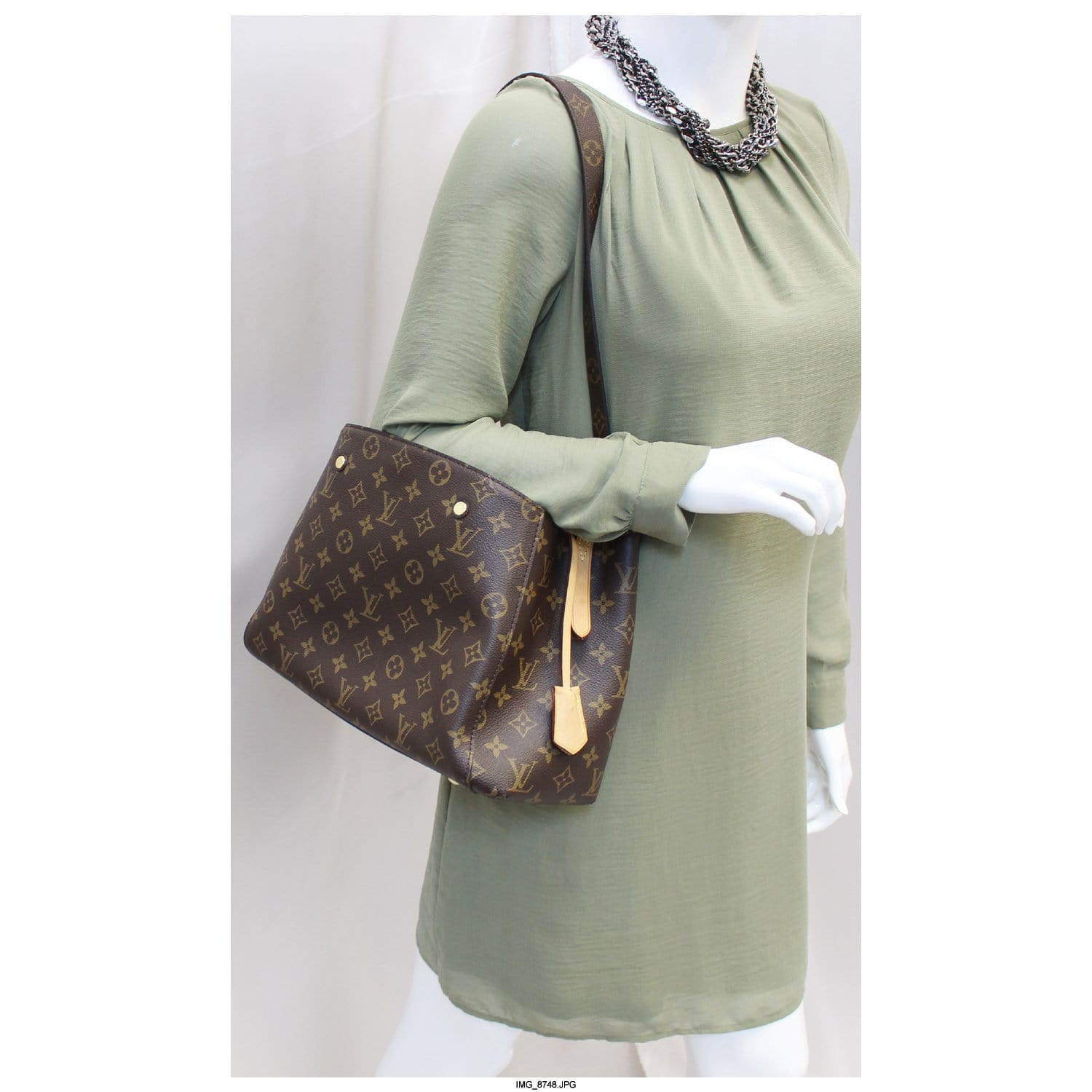 29ea3401835be LOUIS VUITTON Monogram Canvas Montaigne MM Shoulder Bag-US