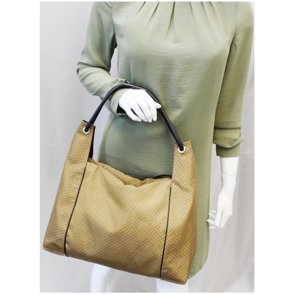 GUCCI GG Oversize Zipper Pull Hobo Bag Gold 152281 - 25% OFF