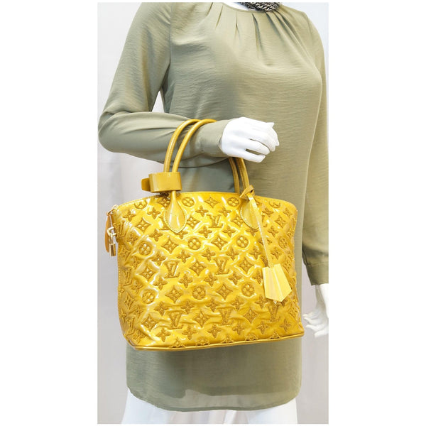 LOUIS VUITTON Monogram - Lockit lambskin Satchel Bag Mustard - shop