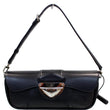 LOUIS VUITTON Montaigne Epi Leather Clutch Bag Black