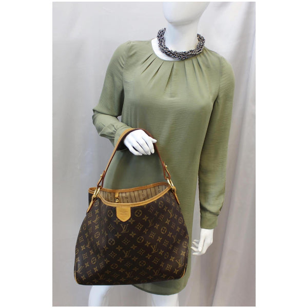 LOUIS VUITTON Delightful PM Monogram Shoulder Hobo Bag Brown