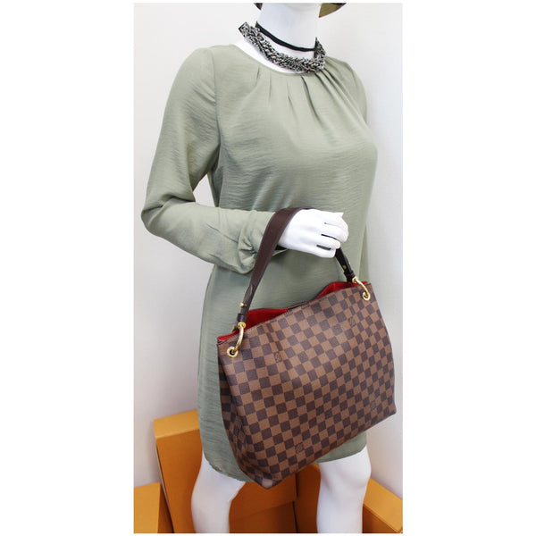 Louis Vuitton Graceful PM Damier Ebene Shoulder Bag for women