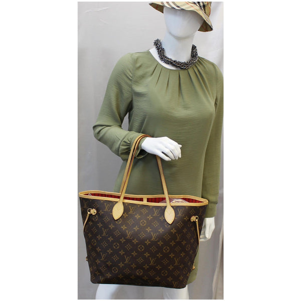 Louis Vuitton Neverfull MM Monogram Canvas Tote Bag for women