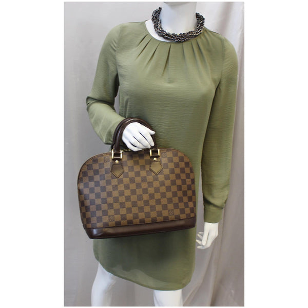 Louis Vuitton Alma PM Damier Ebene Hand bag Brown