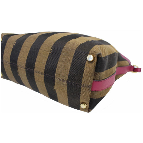 Fendi Tobacco Pequin Stripe Canvas Large - right side view