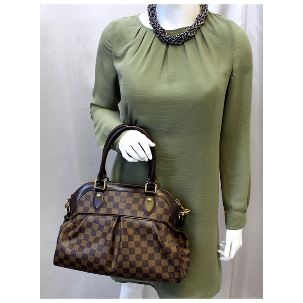 LOUIS VUITTON Trevi PM Damier Ebene Brown Shoulder Bag-US