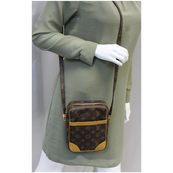 LOUIS VUITTON Danube Monogram Canvas Crossbody Bag Brown-US
