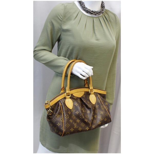 Louis Vuitton Tivoli PM Monogram Canvas women Hand Bag