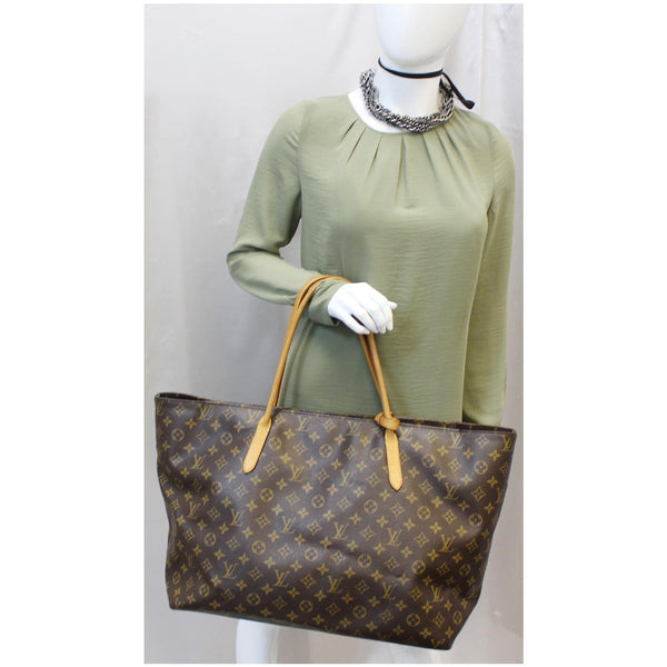 LOUIS VUITTON Raspail GM Monogram Canvas Shoulder Bag Brown