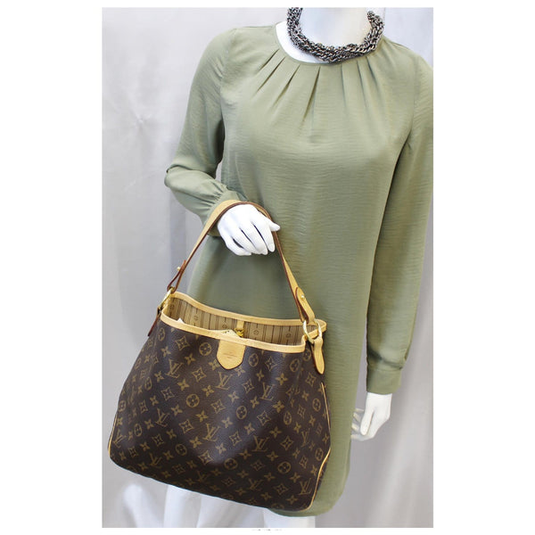 LOUIS VUITTON Delightful PM Monogram Canvas Shoulder Hobo Bag-US