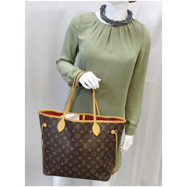 Louis Vuitton Neverfull MM - Lv Neverfull Canvas Tote Bag brown