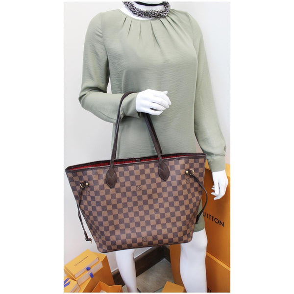 Louis Vuitton Neverfull MM Damier Ebene Tote Bag Brown for women