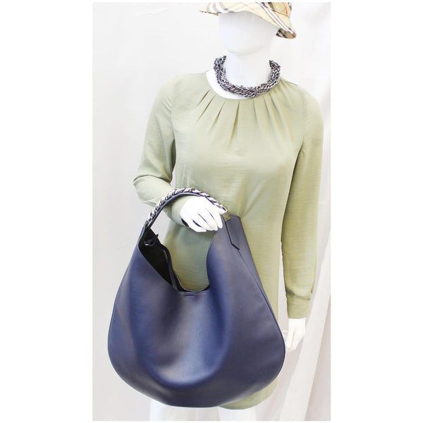 Givenchy Hobo Bag Infinity Medium Leather Blue for women