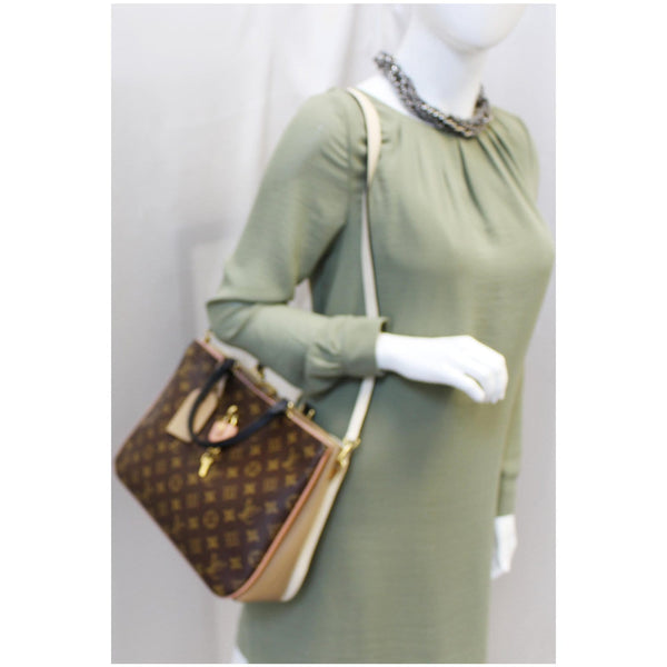 Lv Millefeuille Monogram Canvas Shoulder Bag Women