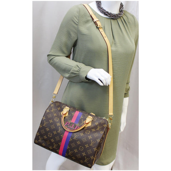 LV Speedy 30 Mon Bandouliere Monogram Canvas Shoulder Bag