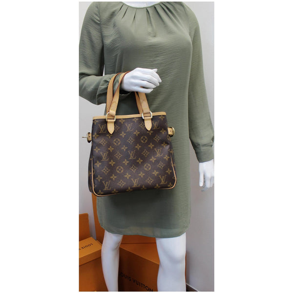 LV Batignolles Vertical Monogram Canvas Handbag