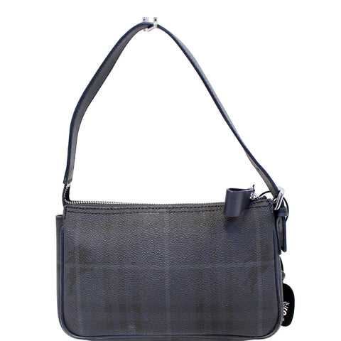 3ae3ef5bbade BURBERRY Coated Pochette Blue Canvas Clutch