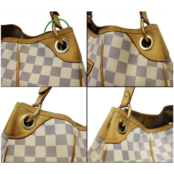 Louis Vuitton Galliera PM Damier Azur white - leather